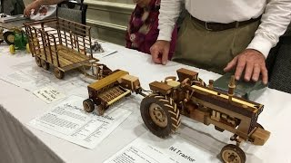 Amazing Hand Made Toy Wooden Tractors And Farm Machinery