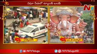 Beautiful Ganesh Idols Lined Up for Immersion | Live from Charminar | NTV