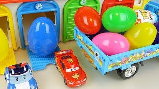Surprise eggs house and truck cars car toys play