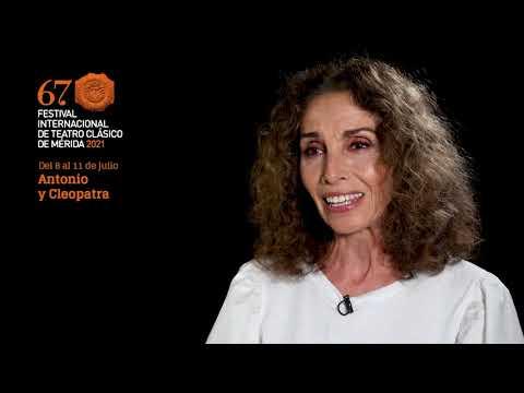 Ana Belén llega a #Mérida67 como Cleopatra