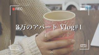 3万のアパートで過ごす1日のVlog #1