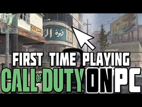 PLAYING CALL OF DUTY ON PC FOR THE FIRST TIME!