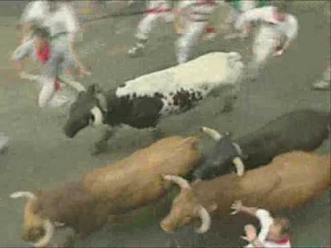Running of The Bulls in Pamplona 1