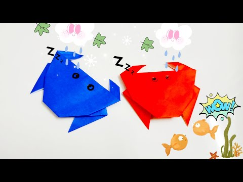 DIY Paper Origami - How to make crab origami easy 🦀