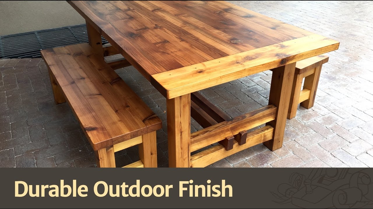 Durable Outdoor Finish YouTube - Picnic table finish