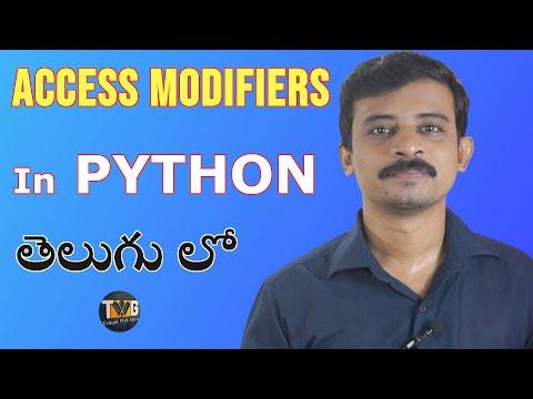 PYTHON TUTORIAL IN TELUGU - Part 17   Access Modifiers in Python in telugu   Telugu Web Guru thumbnail