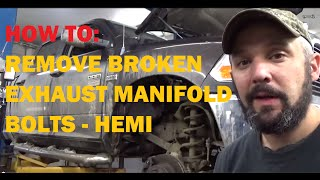 Removing Broken Exhaust Manifold Bolts - Hemi Dodge Ram