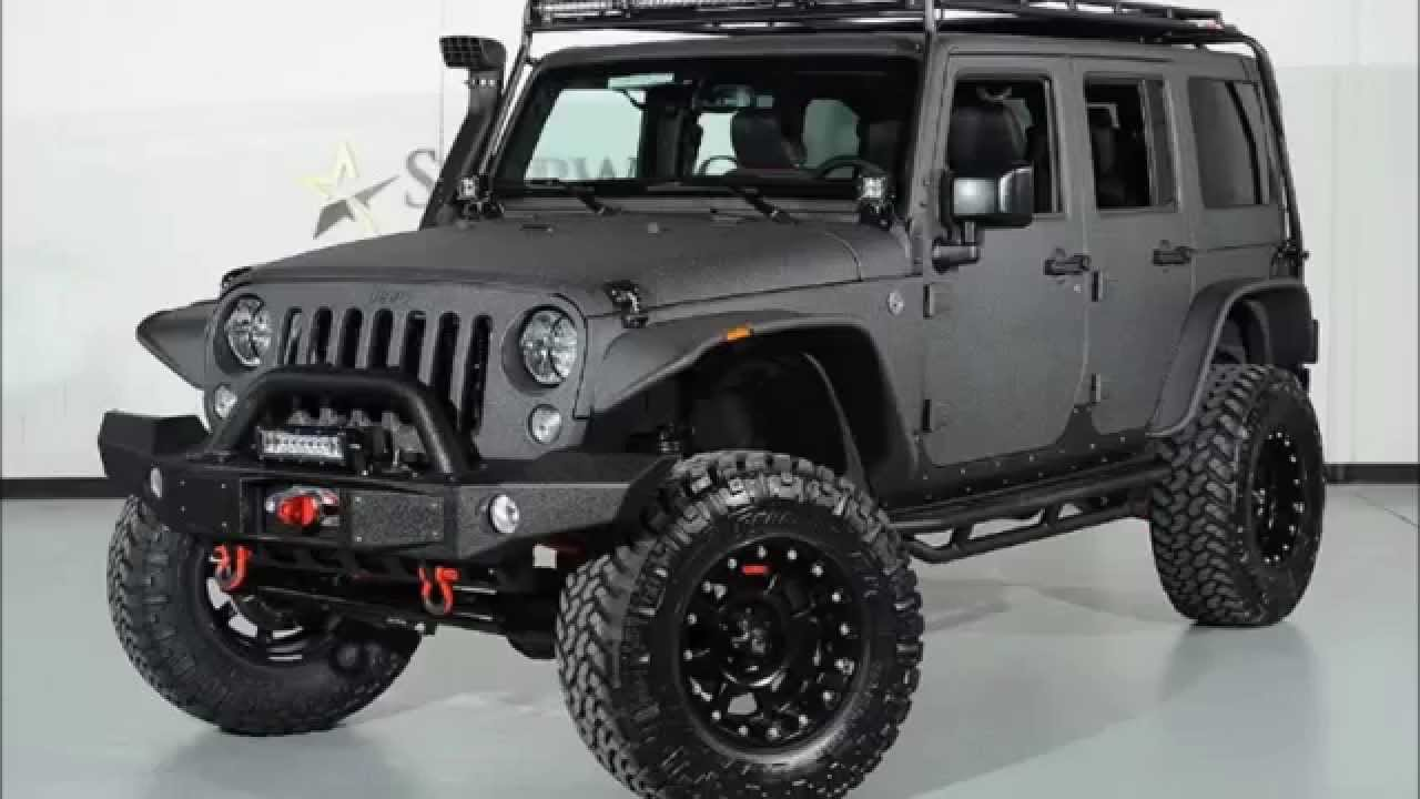 fff398f0bb4 2015 Jeep Wrangler Unlimited Kevlar Coated Lifted Custom Leather ...