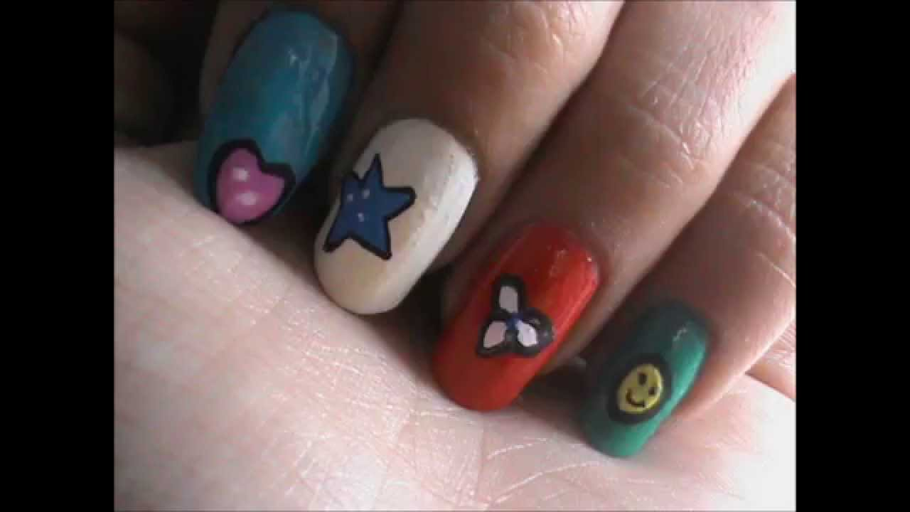 Nail Art Designs for Kids! - YouTube