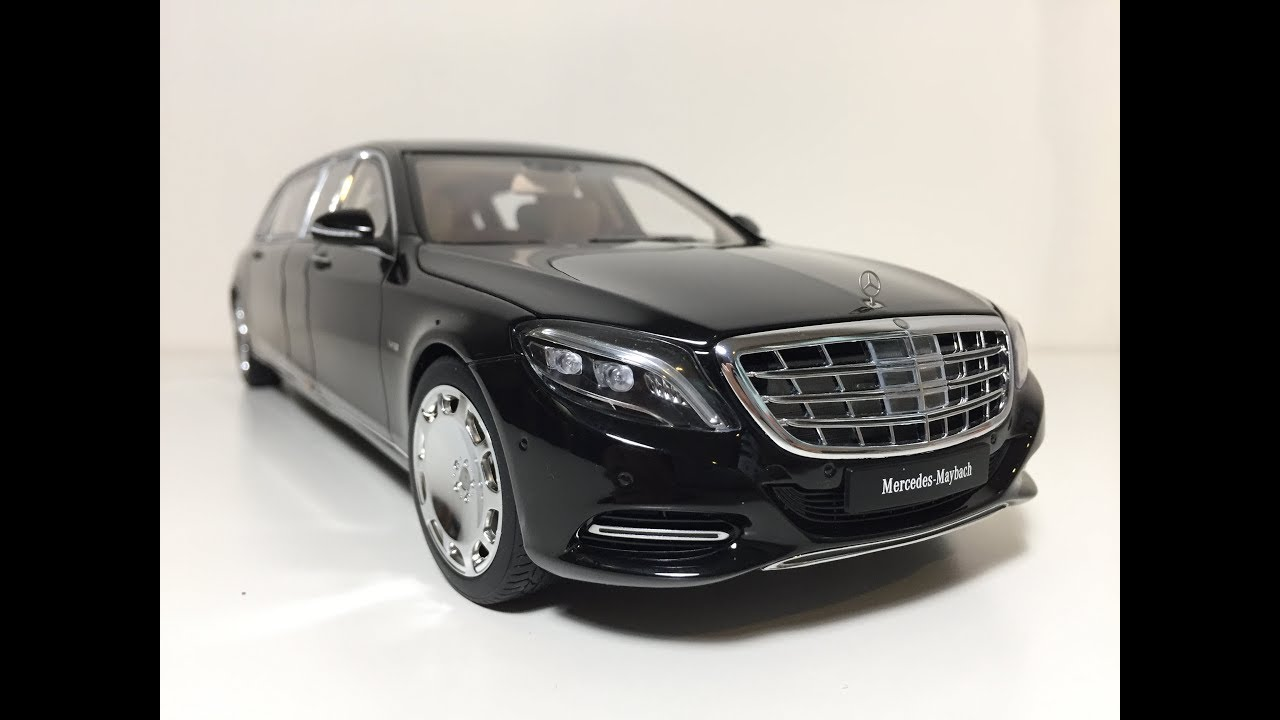 1/18 autoart mercedes maybach s600 pullman black - youtube