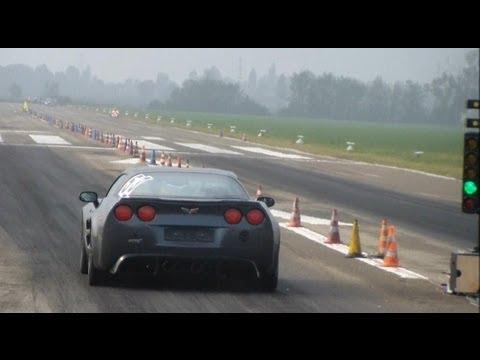 Corvette C6 ZR1 vs FIAT Uno Turbo: drag races + launches