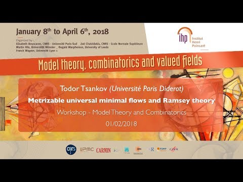 Metrizable universal minimal flows and Ramsey theory - T. Tsankov - Workshop 1 - CEB T1 2018