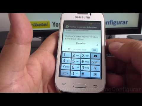 Como descargar e instalar Whatsapp en Android samsung Galaxy Young S6310 español Full HD