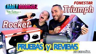 Altavoz Inalámbrico ROCKET & TRIUMPH  Fonestar EDICIÓN ESPECIAL OT (PRUEBAS Y REVIEWS)