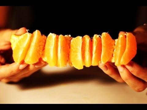 Peeling A Tangerine Like Boss