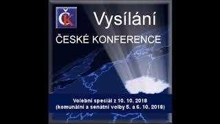 Volební speciál (komunální+senátní volby) - A. Svoboda, S. Rudolfský, J. Kuchař, K. Kříž, 10.10.2018
