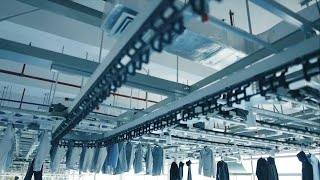 GLOBALink | Smart tech at E China clothing factory improves efficiency, working environment