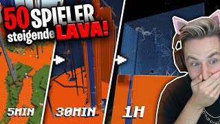 Die LAVA steigt jede Minute EINEN BLOCK, ihr glaubt nicht WAS 50 Spieler DANN getan haben!