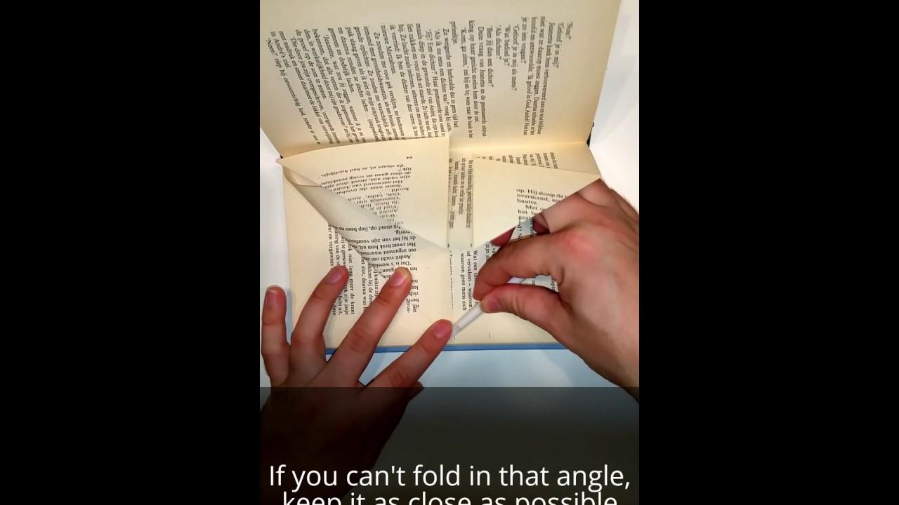 diy folded book art