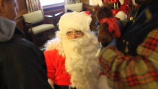Santo Salon & Spa: Cheering Up Kids with Good Old Fashioned Santa and Sleigh(Frank Santo, owner of Santo Salon & Spa, always dreamed of doing something like this for kids who don't live at home or may not have parents. Giving out hugs ..., 2012-01-26T20:21:53.000Z)