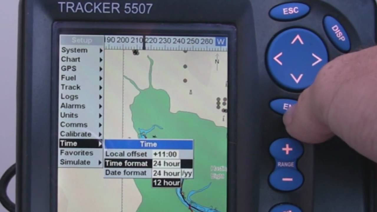 maxresdefault navman tracker chartplotter time set youtube navman tracker 5500 wiring diagram at bakdesigns.co