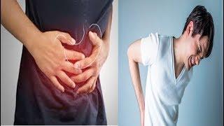 Costas estômago e nas de dores dor