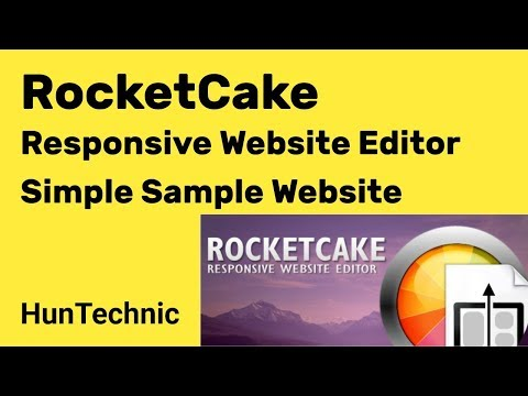 RocketCake Responsive Website Editor Simple Sample Site