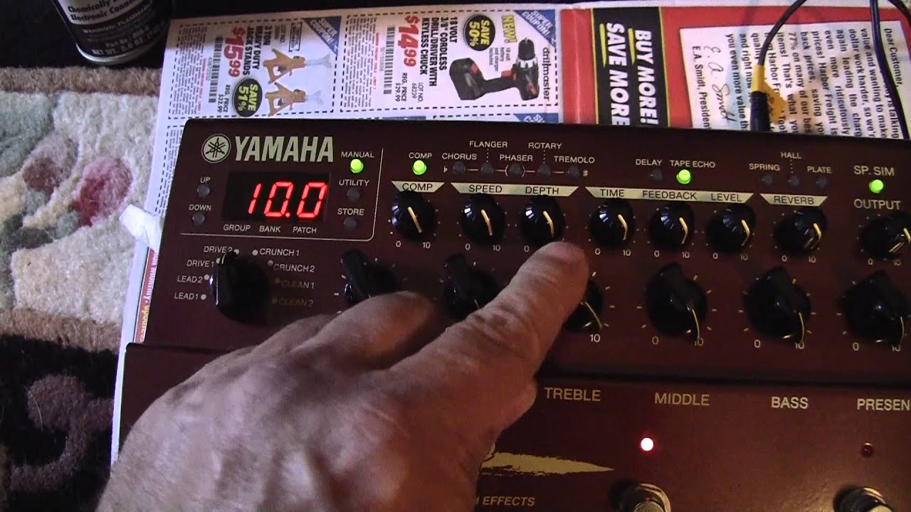 Yamaha DG Stomp - Part 3 of 3 - Cleaning Dirty Selector - Trashbay!
