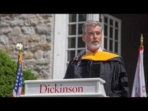 Pierce Brosnan Receives Doctor of Environmental Advocacy Honorary Degree from Dickinson College