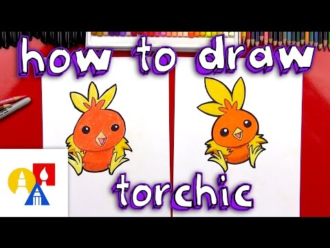 How To Draw Torchic Pokemon + Toy Giveaway
