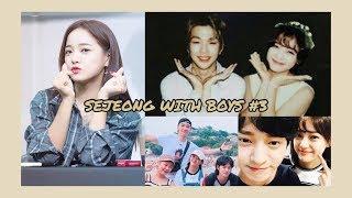 Gugudan Sejeong with boys #3 (Seventeen, Big Bang, SHINee, BTS and more)