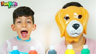 Animals with Face Masks and Paint for Kids!