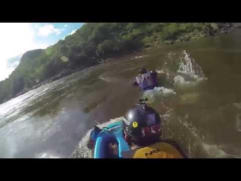 Fluid Anvil River boarding - Surf test at Zambezi Rapid 24 (Music: Conkarah - Cold Water)