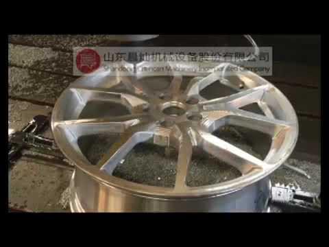 automobile wheel aluminium pattern making machining by SGS2540T CNC