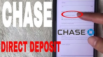 ✅  Chase Bank Direct Deposit Instructions 🔴
