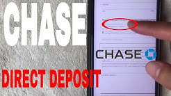 ✅  Chase Bank Direct Deposit Instructions ?