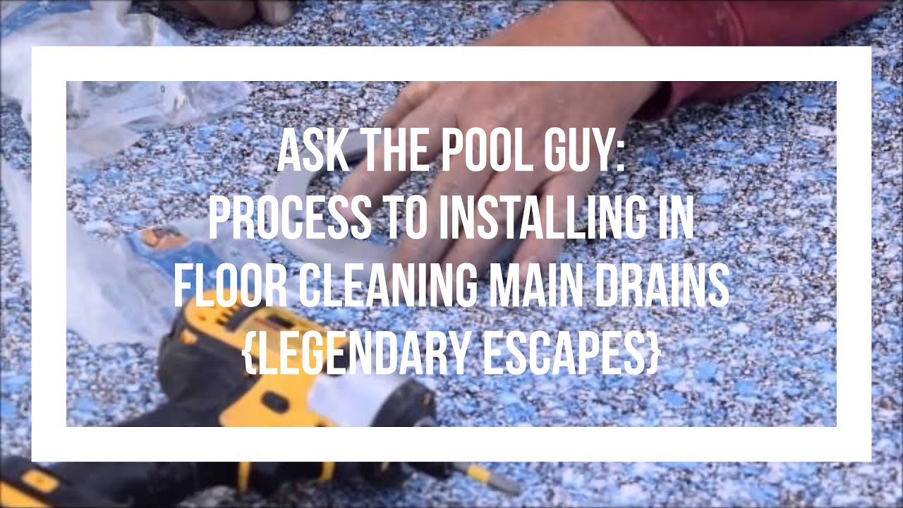 how to clean pool drain