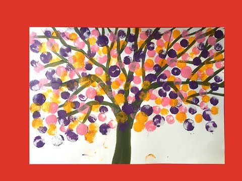 How to draw a tree for kids | Landscape painting for kids 3 | Art for kids