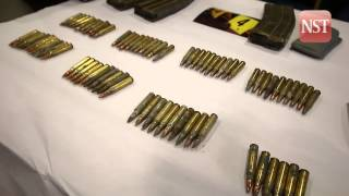 Grenades, bullets and firearm magazines spook air-cond technician