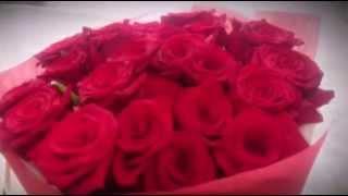 Букет цветов из 25 ярких красных роз! | Bouquet of 25 bright red roses!