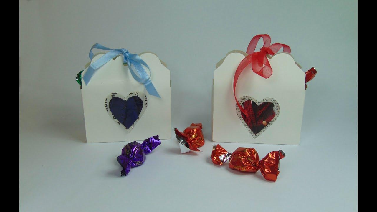 Como hacer cajita regalo para san valentin youtube - San valentin regalos ...