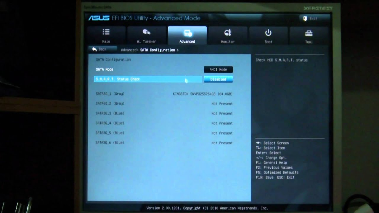 ASUS P8P67 Deluxe EFI BIOS - Advanced Mode (Advanced)