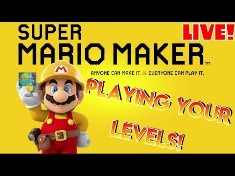 🌎🏗️ Super Mario Maker   🔴 Live   PLAYING YOUR LEVELS! 🏗️🌎