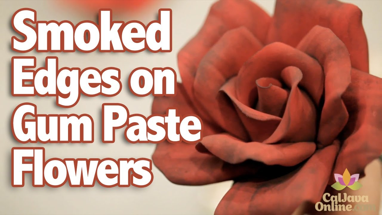 How to Add Smoked Edges to Gum Paste Flowers | Cake Tutorial - YouTube