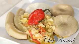 Salt Fish & Cabbage With Dumpling & Banana