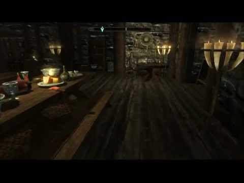 Skyrim House Tour Hjerm Windhelm Fully Decorated Youtube