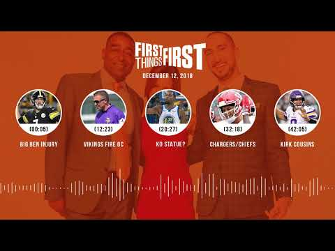 First Things First audio podcast(12.12.18)Cris Carter, Nick Wright, Jenna Wolfe | FIRST THINGS FIRST