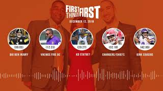 First Things First audio podcast(12.12.18)Cris Carter, Nick Wright, Jenna Wolfe   FIRST THINGS FIRST