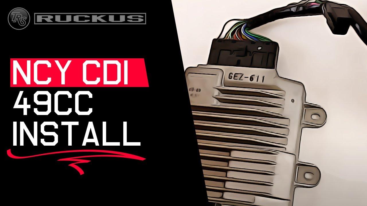 hight resolution of ncy cdi install video for honda ruckus 49cc