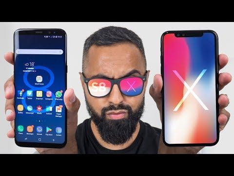 iPhone X vs Samsung Galaxy S8